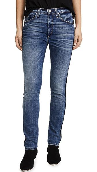 Vintage Slim Jeans with Tuxedo Stripe