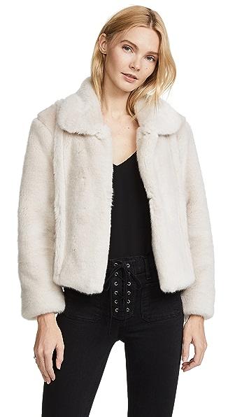McGuire Denim Gigi Faux Fur Jacket In Misty