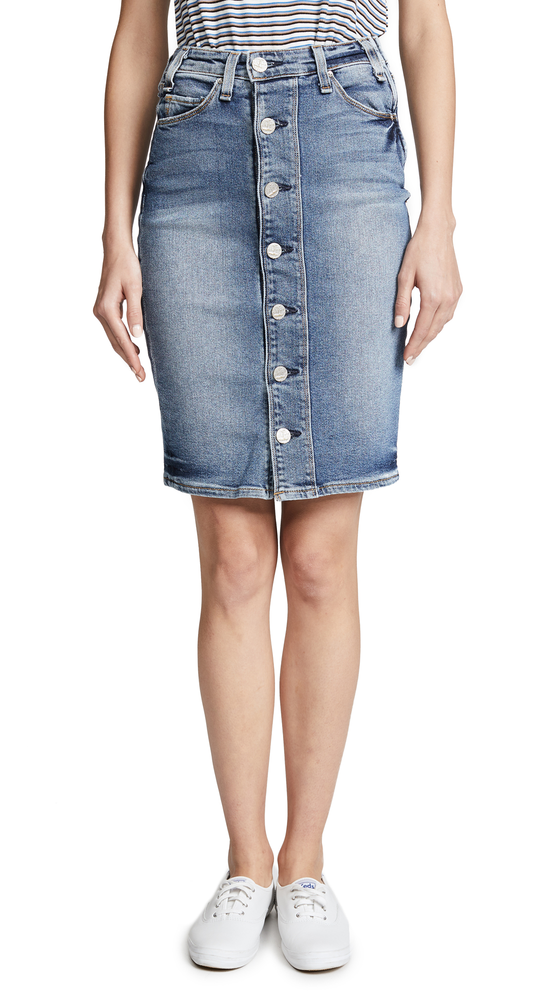 McGuire Denim Cartagena Pencil Skirt In Bolivar