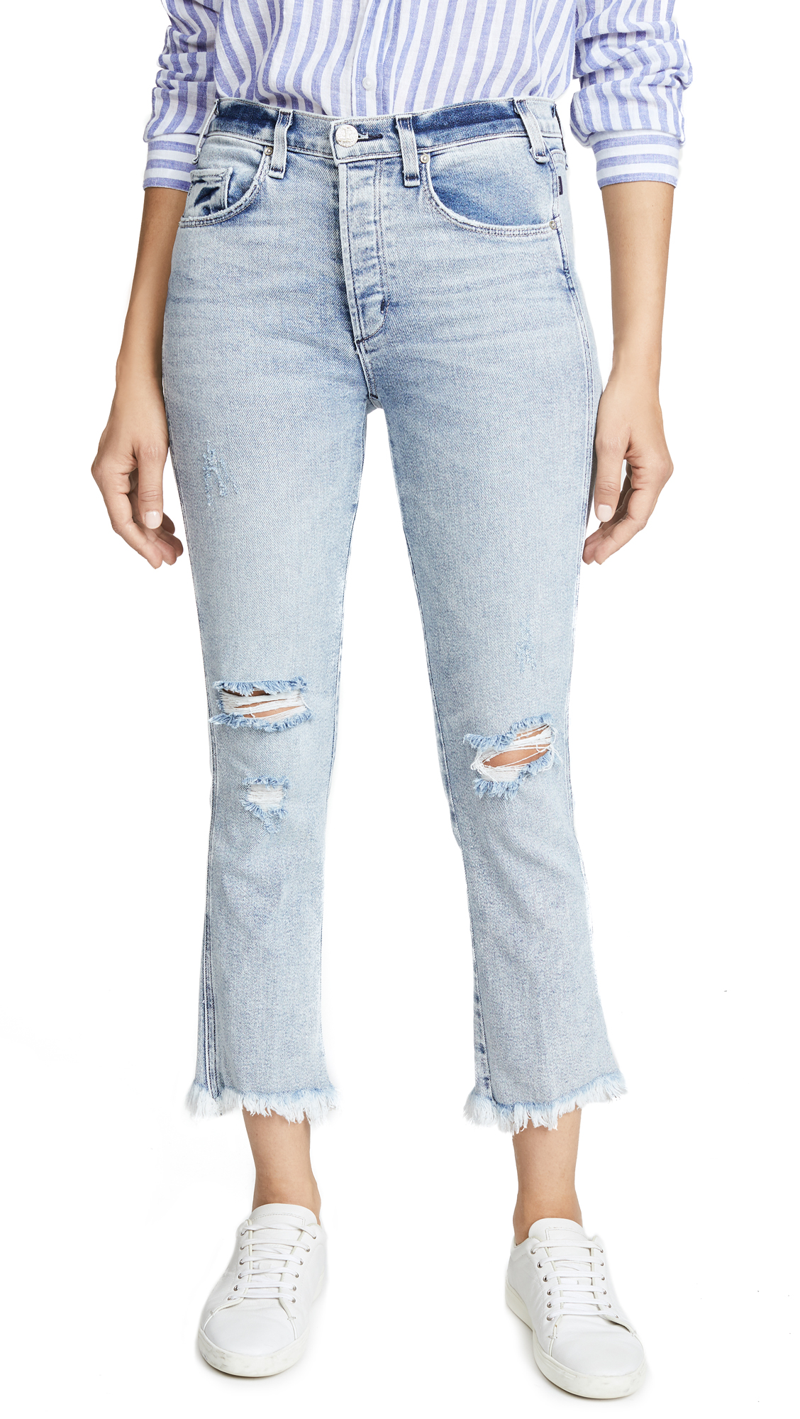 McGuire Denim High Rise Cropped Valletta Jeans