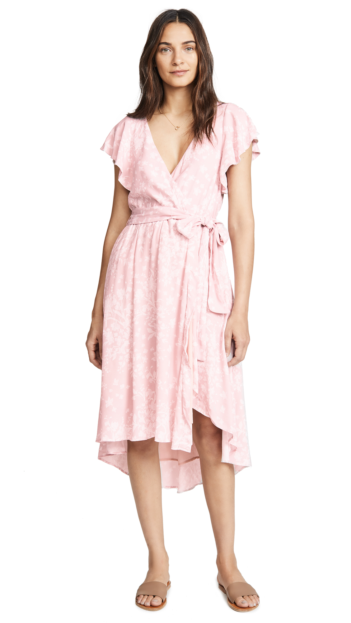 McGuire Denim Bassinger Wrap Dress In Million Dollar Doll