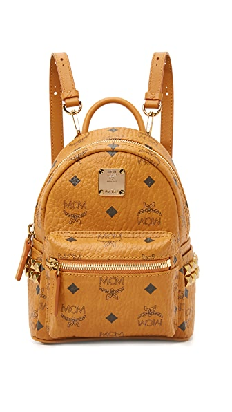 MCM Side Stud Baby Stark Backpack - Cognac