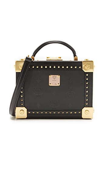 MCM Berlin Trunk Cross Body Bag In Black