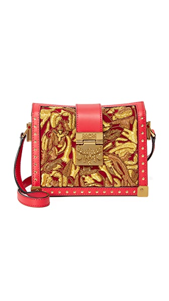 MCM Mitte Brocade Cross Body Bag