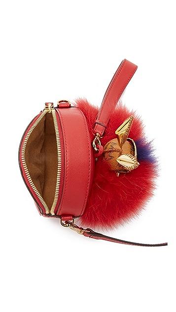 MCM Fur Tambourine Bag