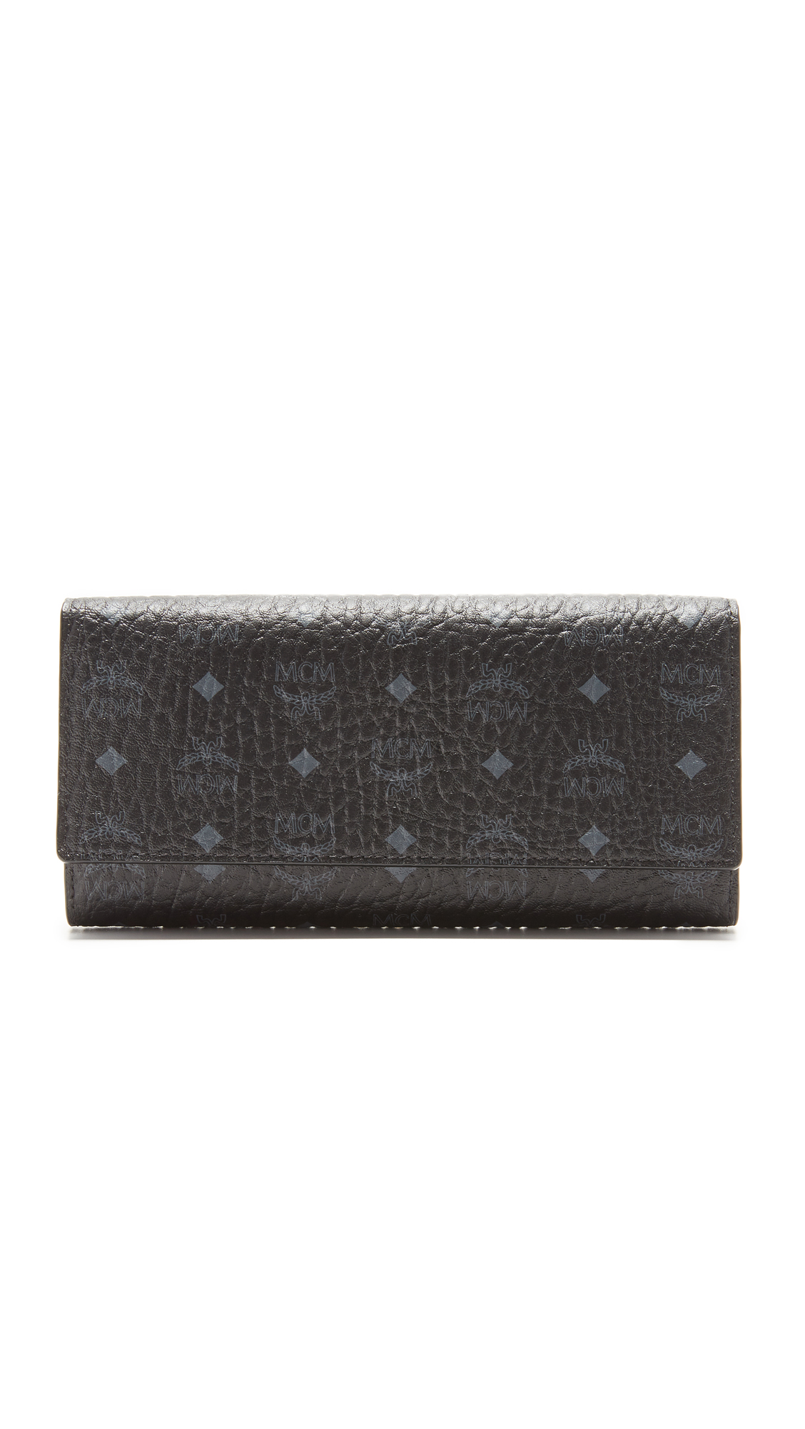 MCM Trifold Wallet - Black