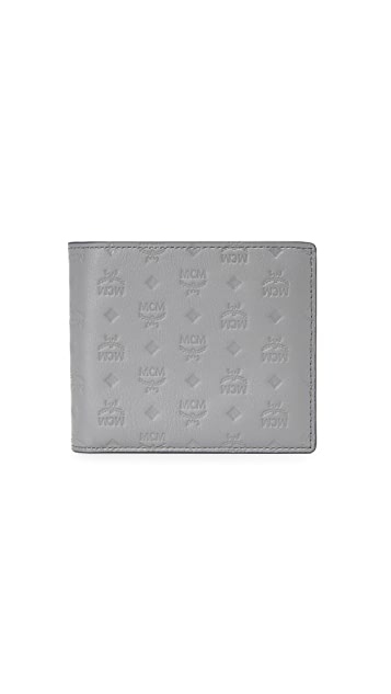 MCM Sigmund Monogrammed Leather Billfold