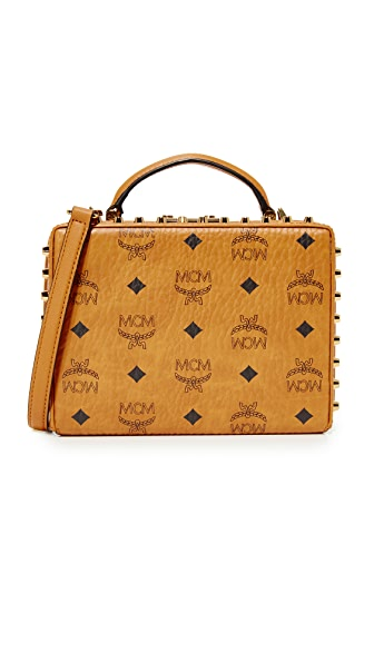 MCM Berlin Cross Body Bag - Cognac