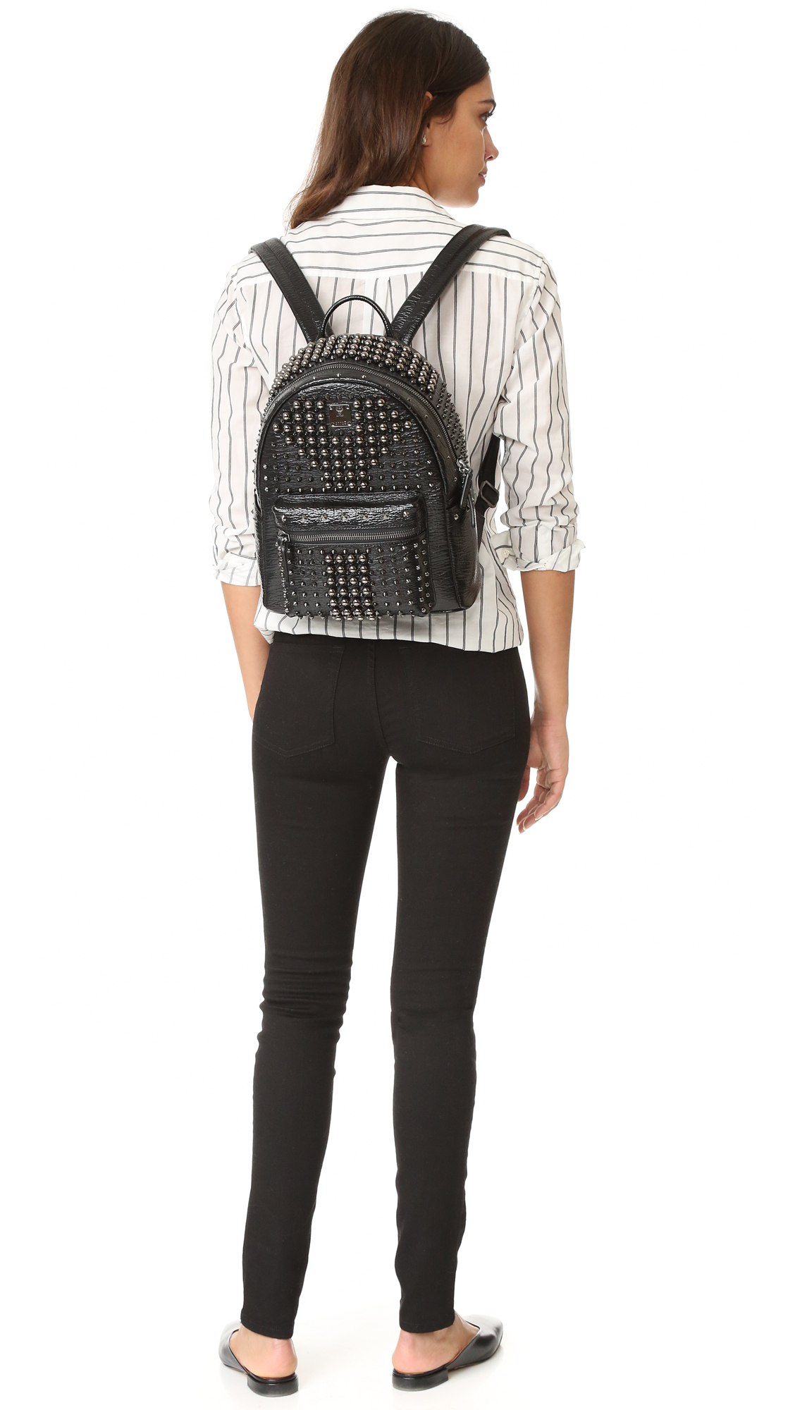 0fab13deb77 MCM Stark Pearl Stud Backpack