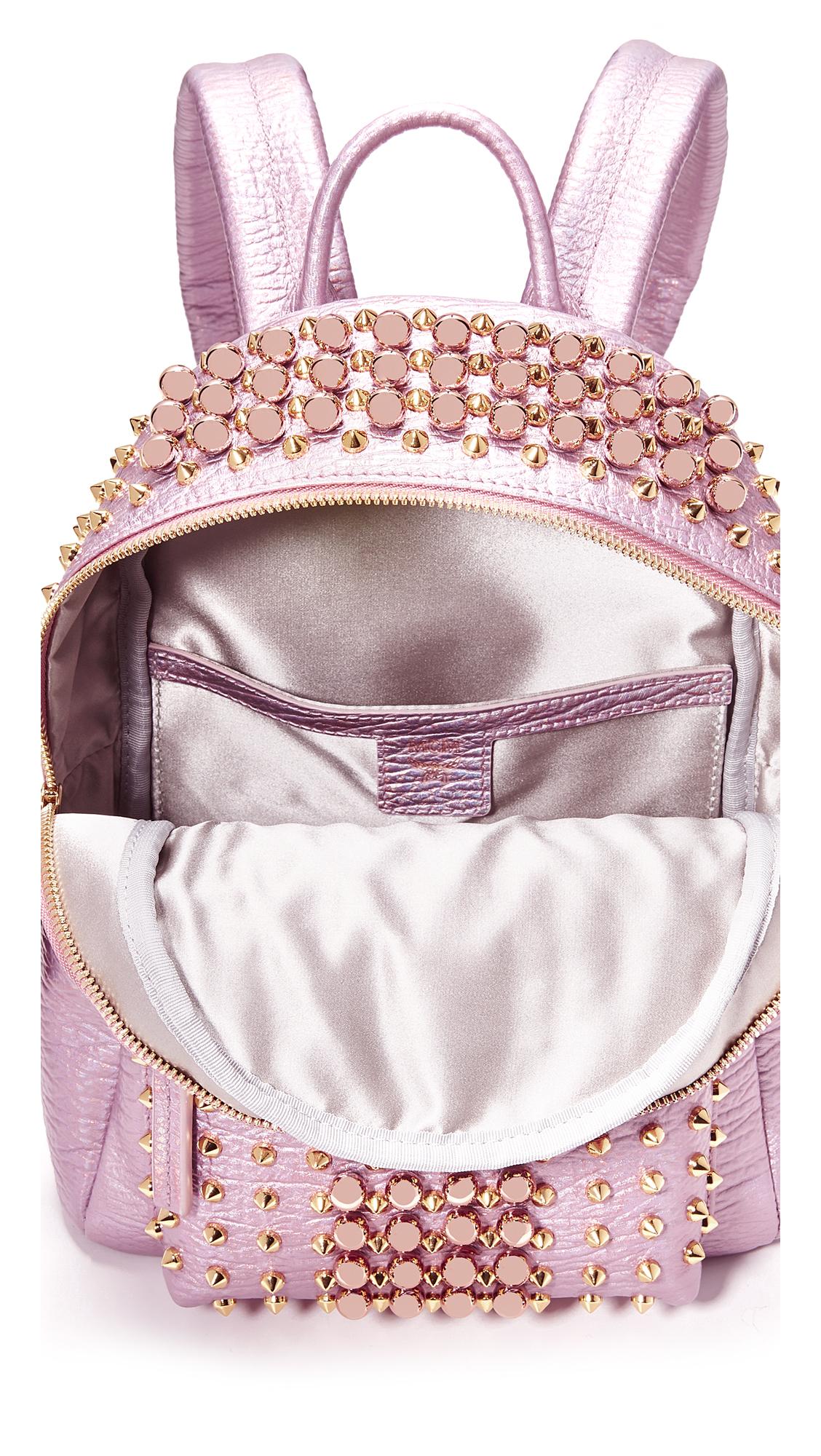 827931bc82bd MCM Stark Pearl Stud Backpack