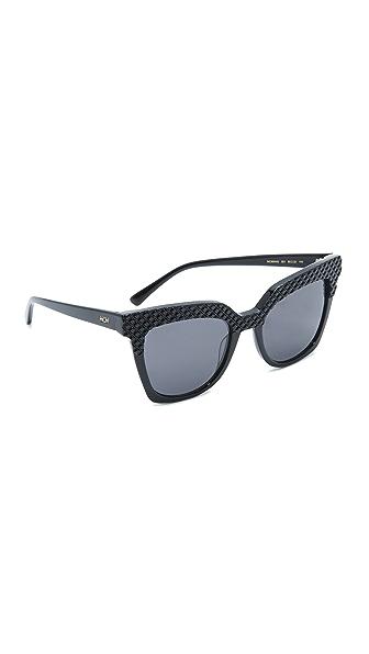MCM Crystal Square Sunglasses - Black/Grey