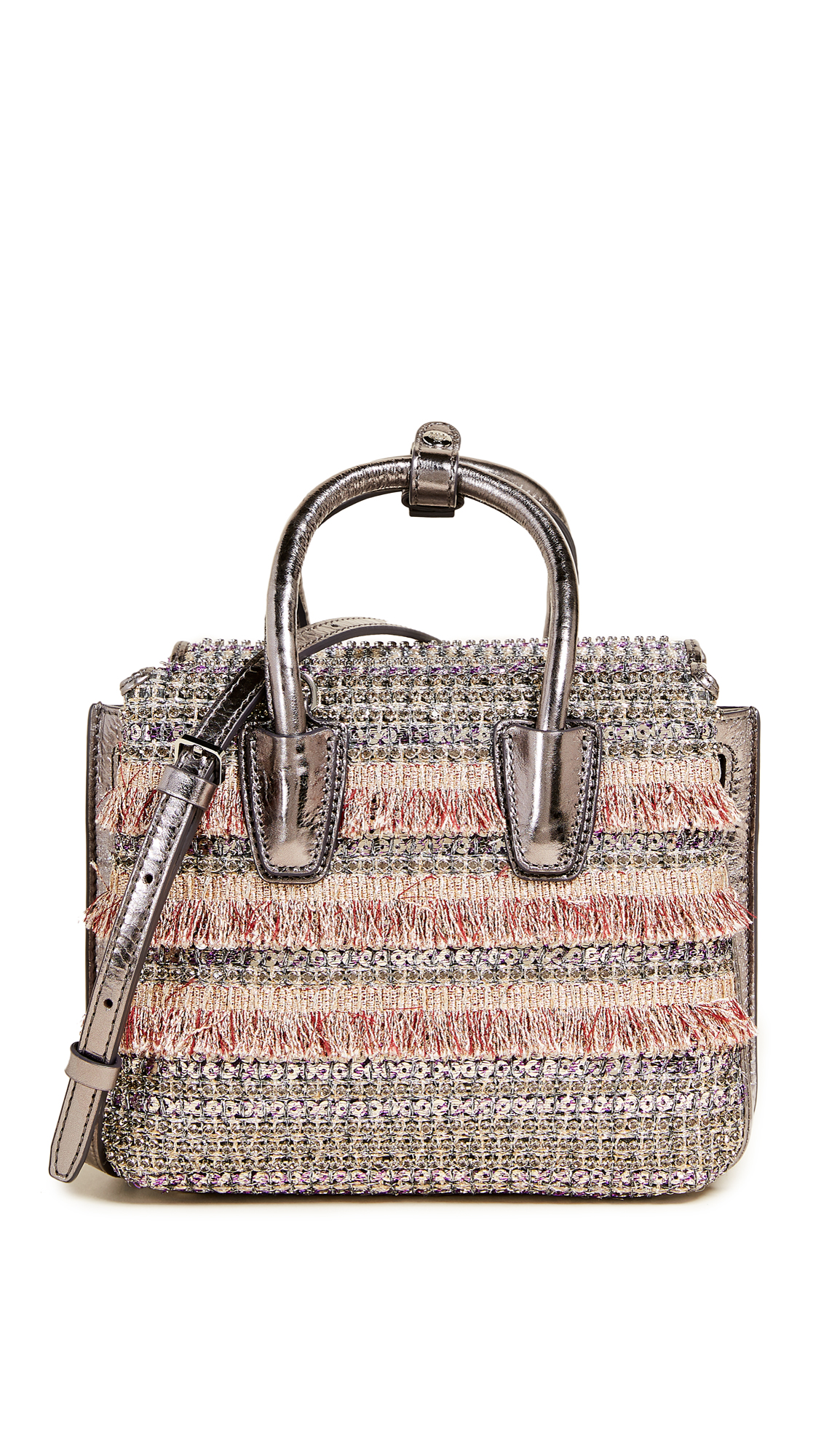 MCM Milla Crystal Mini Satchel - Pink Blush