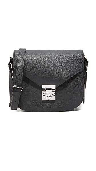 MCM Patricia Saddle Bag - Black