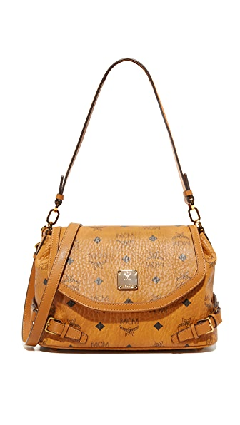 MCM Visettos Shoulder Bag - Cognac