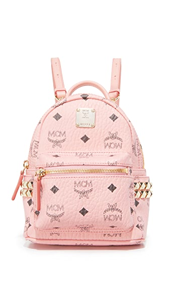 MCM Mini Stark Backpack - Soft Pink
