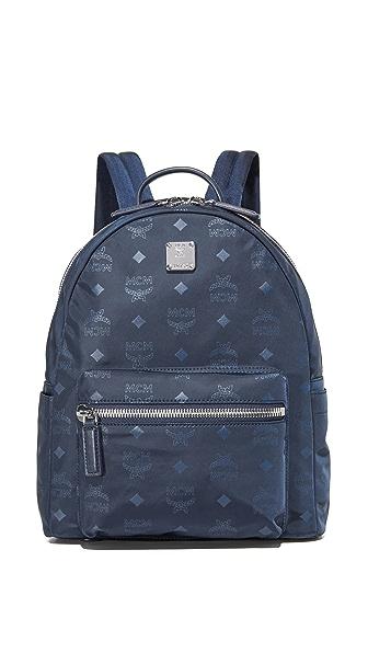 MCM Nylon Backpack - Navy Blue