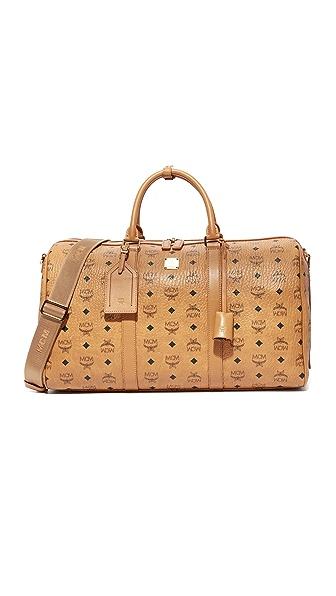 MCM Weekender Bag In Cognac