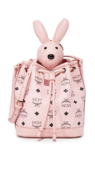 MCM Rabbit Drawstring Bag - Soft Pink