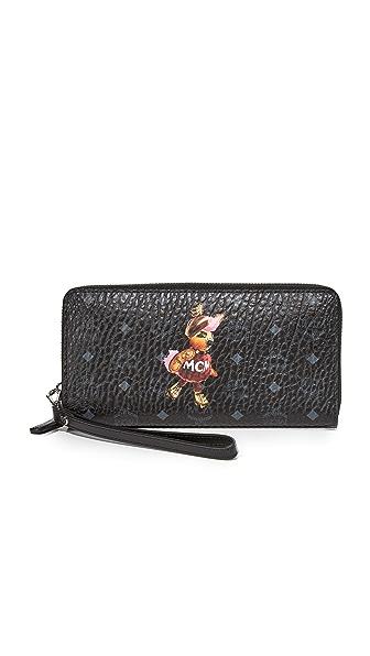 MCM Rabbit Zip Around Wallet