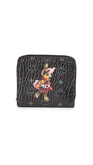 MCM Rabbit Mini Zip Wallet