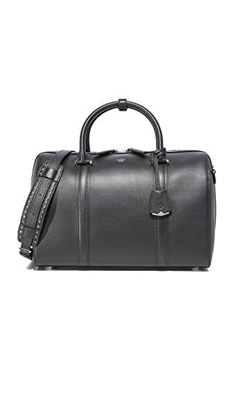 MCM Large Boston Bag - Black