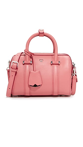 MCM Mini Boston Bag - Coral Blush