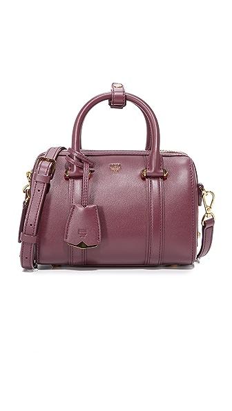 MCM Mini Boston Bag - Rustic Brown