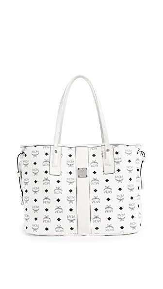 MCM Liz Shopper Tote In White