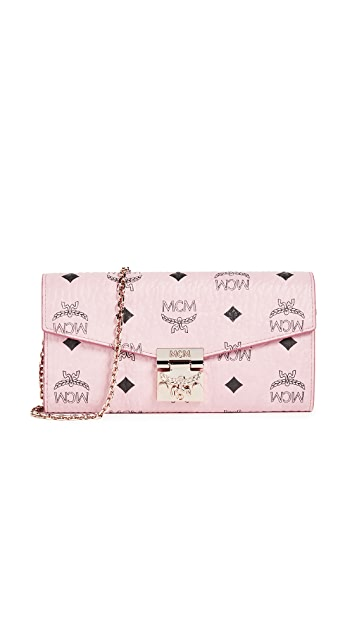 MCM Patricia Two Fold Wallet with Chain