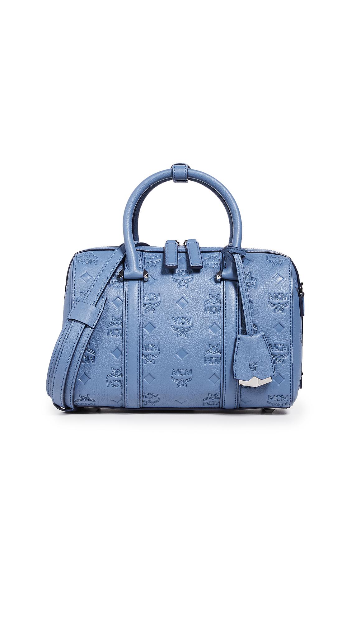 MCM Essential Monogrammed Small Boston Bag | SHOPBOP