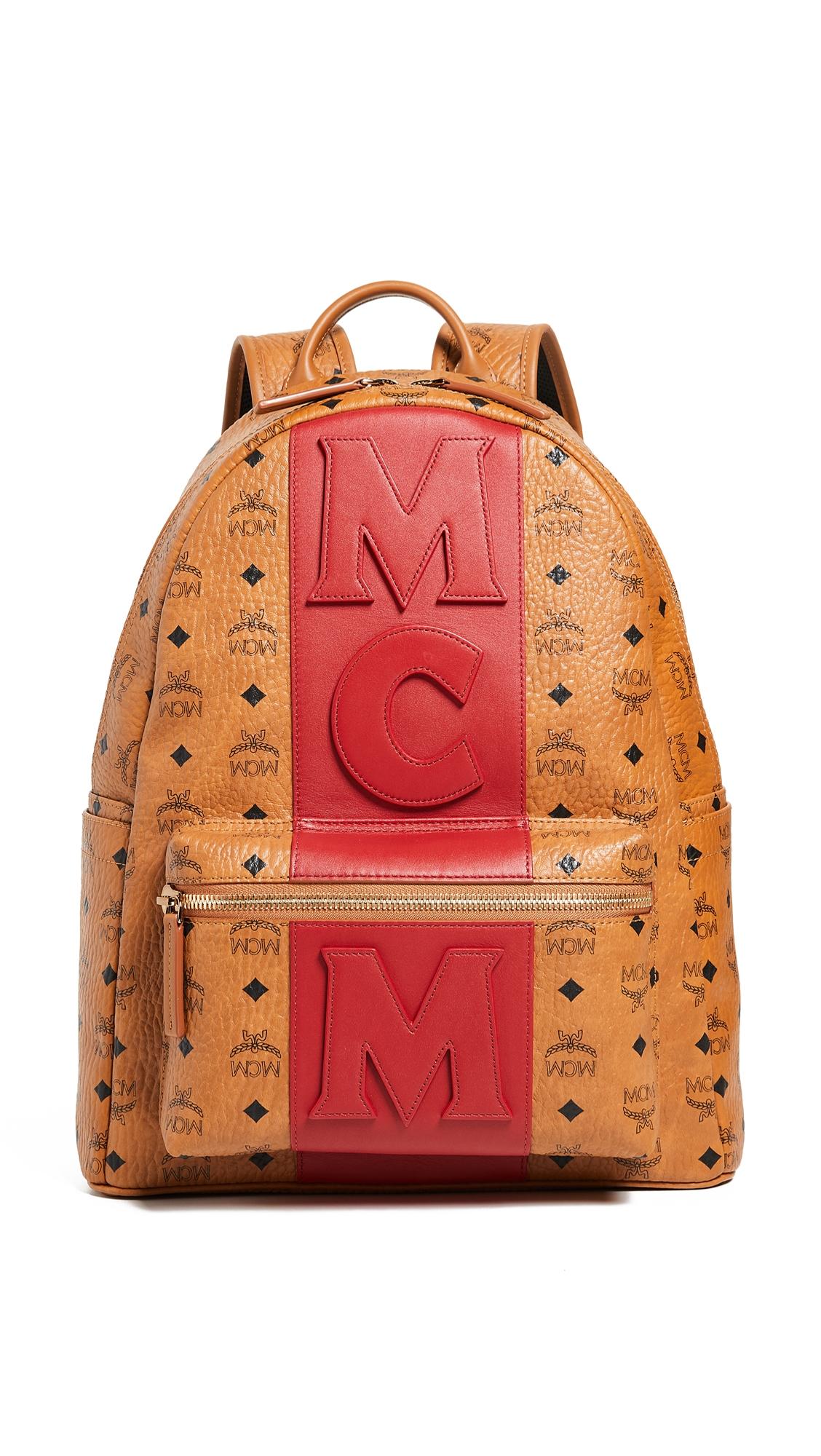 MCM STARK MEDIUM STRIPE BACKPACK