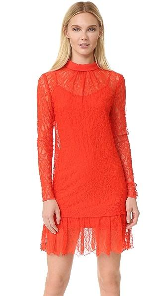 McQ - Alexander McQueen Lace Long Sleeve Dress