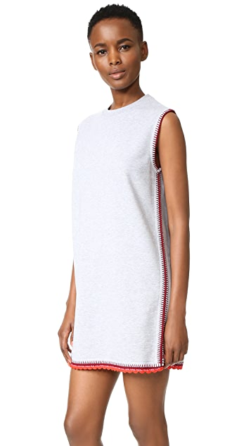 McQ - Alexander McQueen Crochet Sweatshirt Dress
