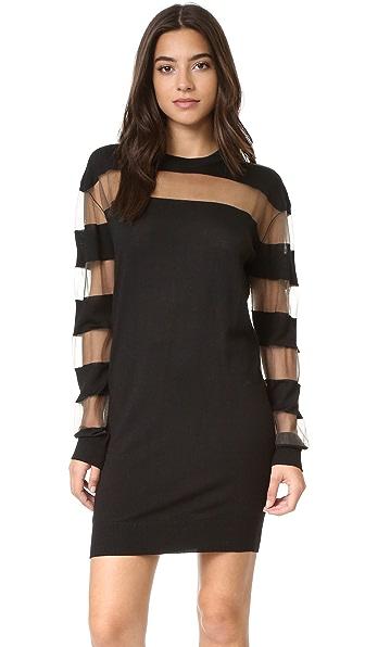 McQ - Alexander McQueen Платье в прозрачную полоску