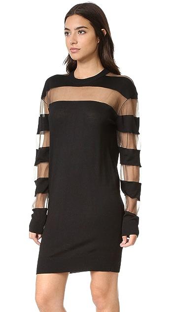 McQ - Alexander McQueen Sheer Stripe Dress
