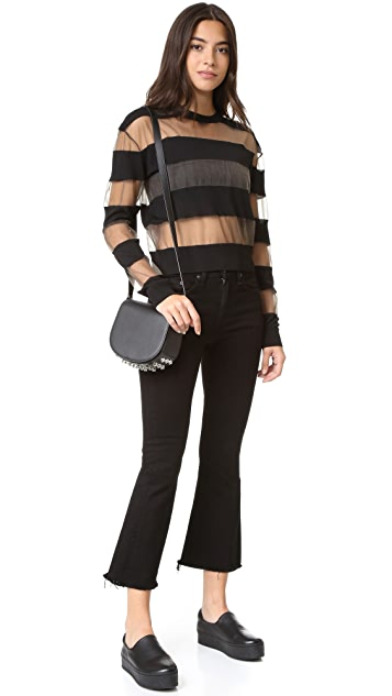 McQ - Alexander McQueen Sheer Stripe Pullover Top