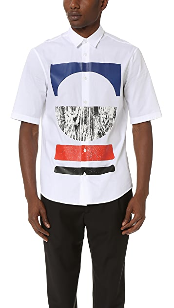 McQ - Alexander McQueen Short Sleeve Sheehan Tribal Shirt