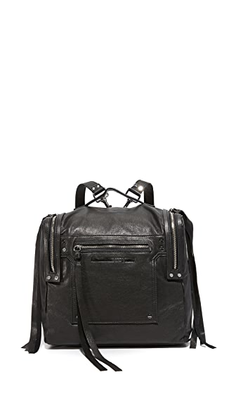 McQ - Alexander McQueen Convertible Box Backpack In Black