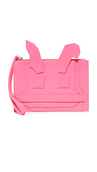 Mcq - Alexander Mcqueen Electro Bunny Pouch - Shocking Pink
