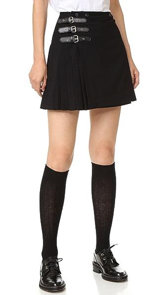 McQ - Alexander McQueen Плиссированная юбка с пряжками