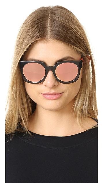 McQ - Alexander McQueen Geometric Colorblock Sunglasses