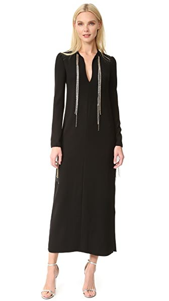 McQ - Alexander McQueen Diamond Maxi Tie Dress - Black