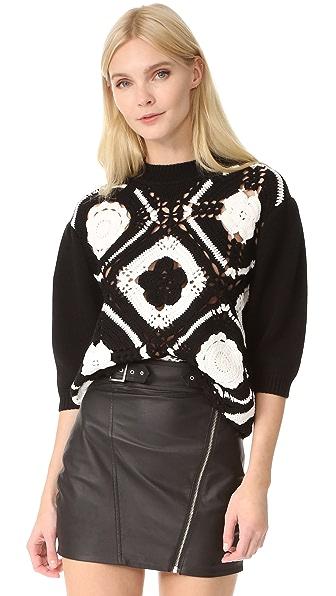 McQ - Alexander McQueen Crochet Square Top