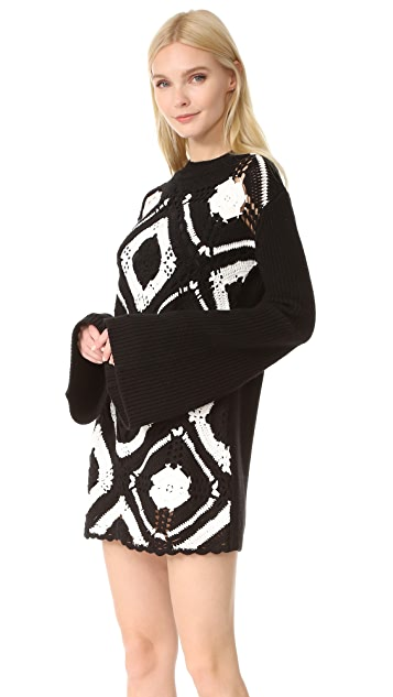 McQ - Alexander McQueen Crochet Square Dress
