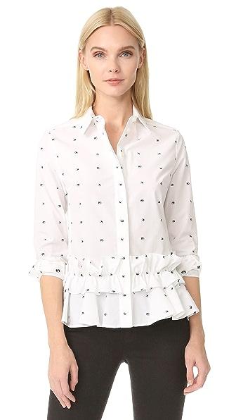 McQ - Alexander McQueen Peplum Ruffle Shirt - White