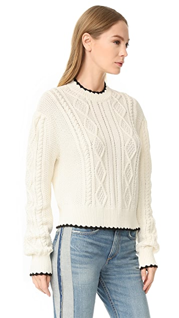 McQ - Alexander McQueen Scallop Cable Sweater