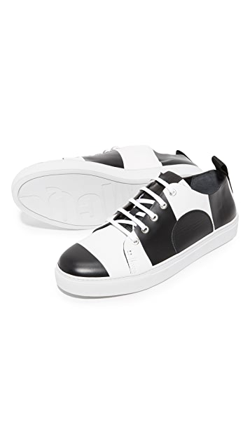 McQ - Alexander McQueen Chris Striped Lace Up Sneakers
