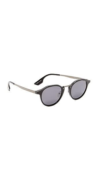 McQ - Alexander McQueen Round Oxford Sunglasses