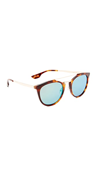 McQ Alexander McQueen Oxford Mirrored Sunglasses