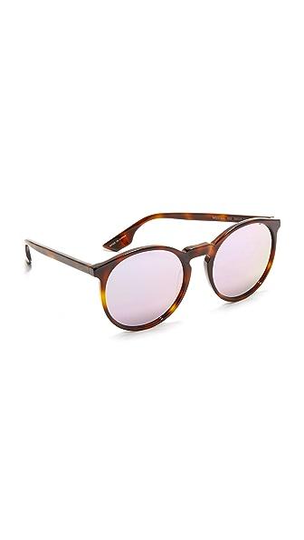 McQ - Alexander McQueen Солнцезащитные очки в крупной округлой оправе с зеркальными линзами